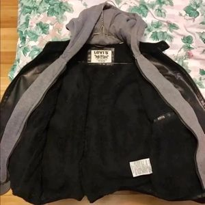 Levi's Faux Leather Jacket with Hood